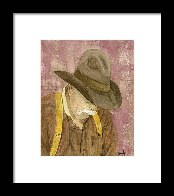 Western Framed Print featuring the painting Walter by Regan J Smith