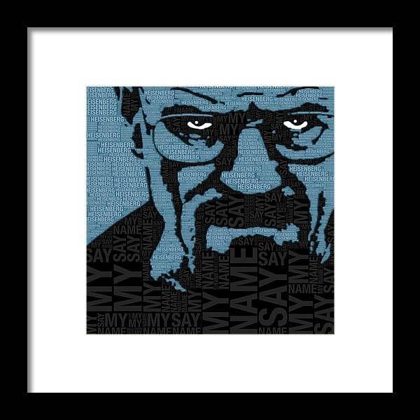 Walter White Heisenberg Breaking Bad Framed Print by Tony Rubino