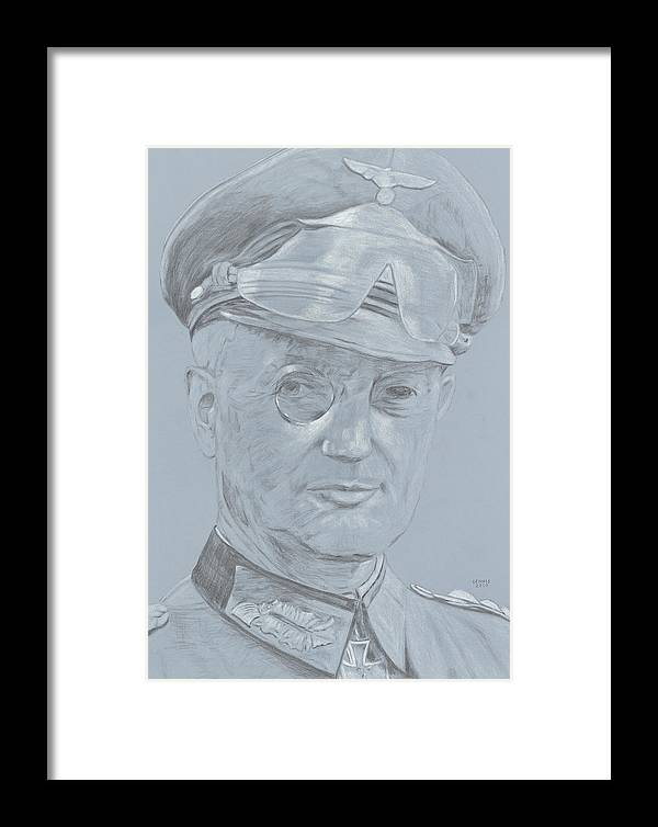 Model Framed Print featuring the drawing Walther Model by Dennis Larson