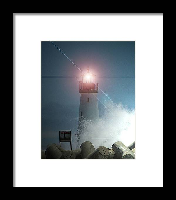 Framed Print featuring the photograph Walton Lighthouse by Pablo Ramirez
