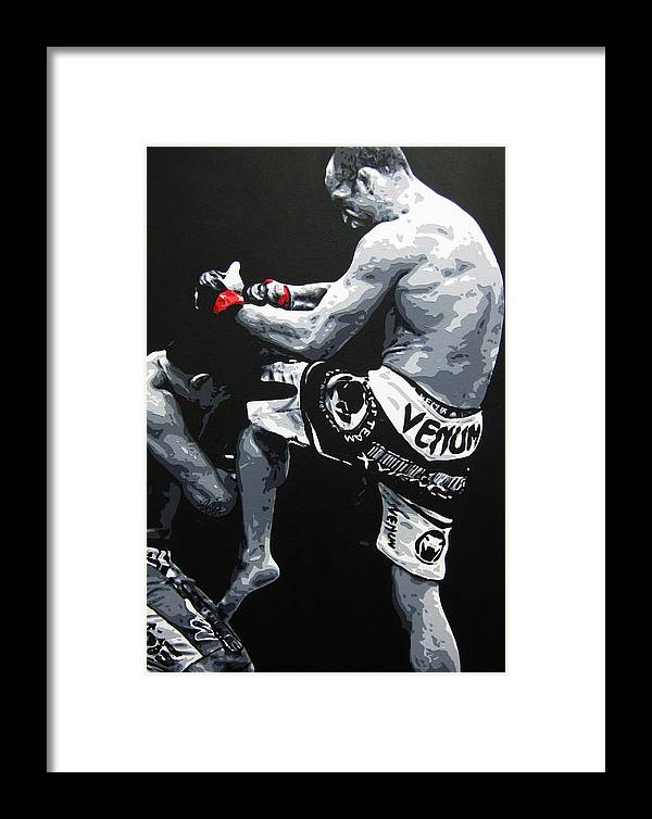Cung Le Framed Print featuring the painting Wand V Cung Le by Geo Thomson
