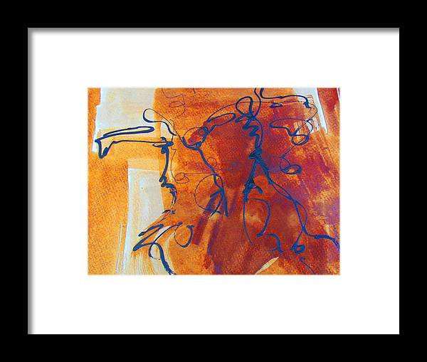 Framed Print featuring the painting Wanderer by Camille Glenn