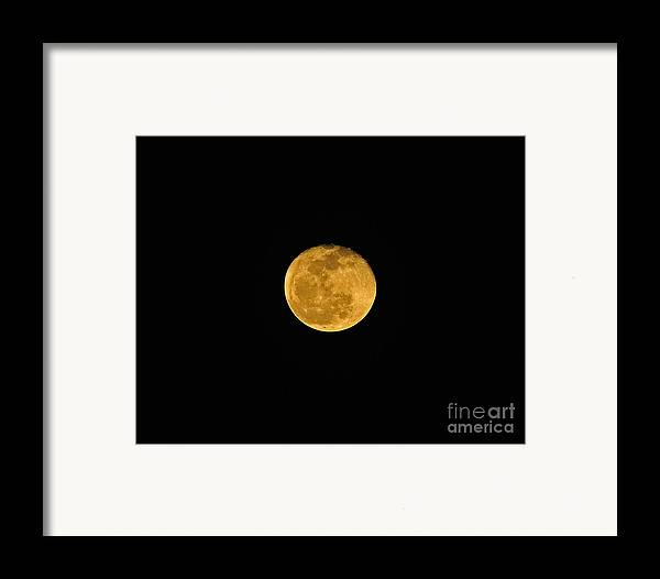 Moon Framed Print featuring the photograph Waning Passover Moon by Al Powell Photography USA