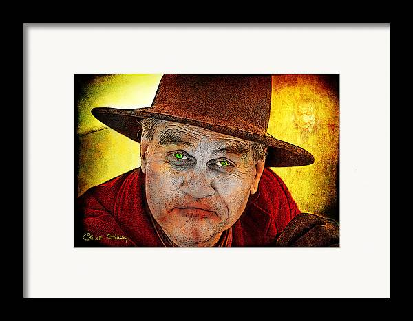 Evil Framed Print featuring the photograph Wanna Be Friends? by Chuck Staley