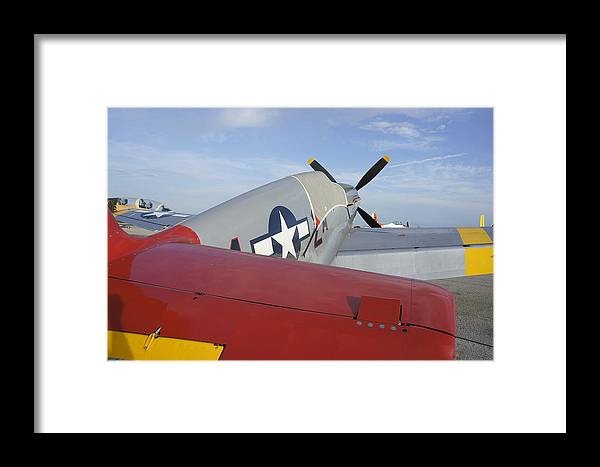 Historic War Plane Framed Print featuring the photograph War Bird by Laurie Perry