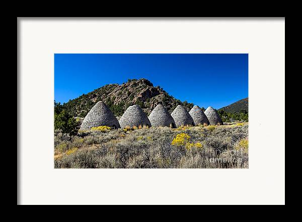 Ward Charcoal Ovens State Historic Park Framed Print featuring the photograph Wards Charcoal Ovens by Robert Bales