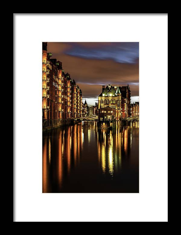 Trading Framed Print featuring the photograph Warehouse District by Achim Thomae