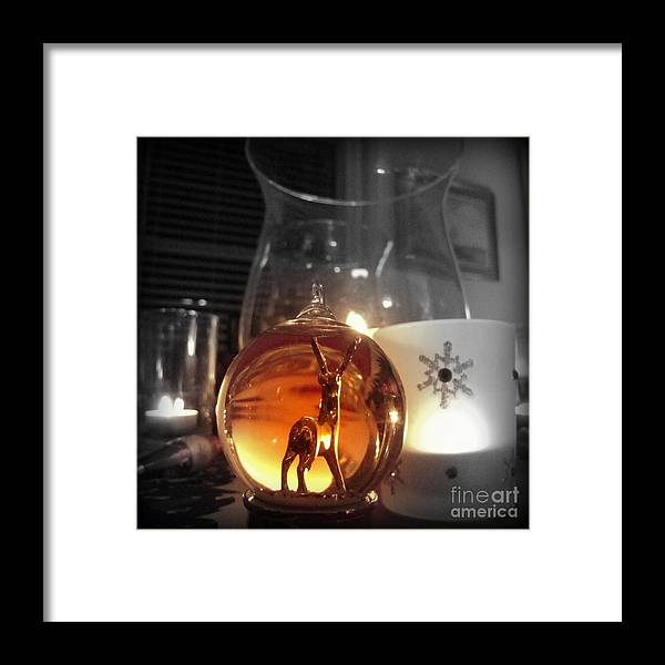 Christmas Framed Print featuring the photograph Warm Glow by Nancy Dole McGuigan