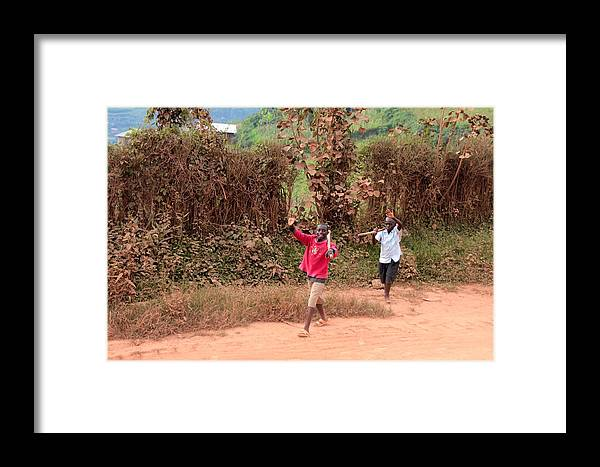 Boys Framed Print featuring the photograph Warm Greeting by Pat Tracey
