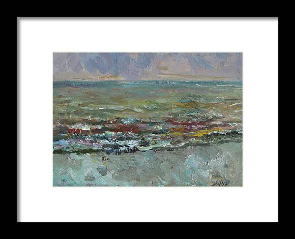 Sea Framed Print featuring the painting Warm Sea by Juliya Zhukova