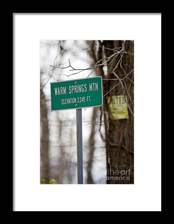 Warm Springs Mountain Framed Print featuring the photograph Warm Springs Mountain by Jason O Watson