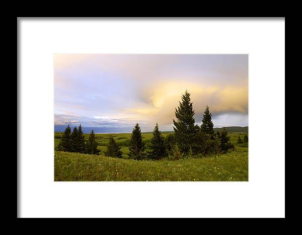 Waterton Lakes Framed Print featuring the photograph Warm The Soul by Chad Dutson