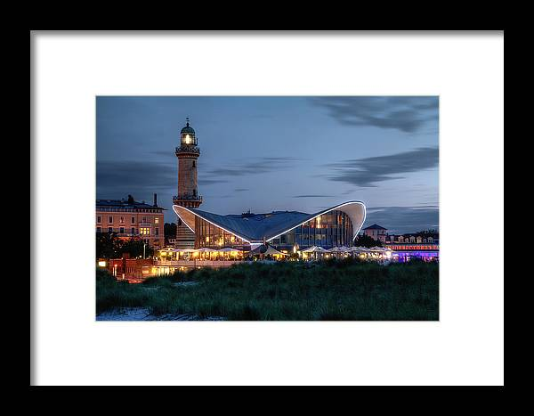 Ostsee Framed Print featuring the pyrography Warnemuende by Steffen Gierok