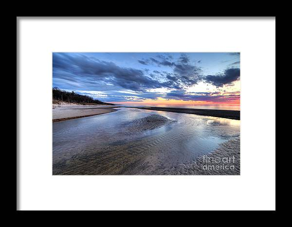 Sunset Framed Print featuring the photograph Warren Dunes State Park by Twenty Two North Photography