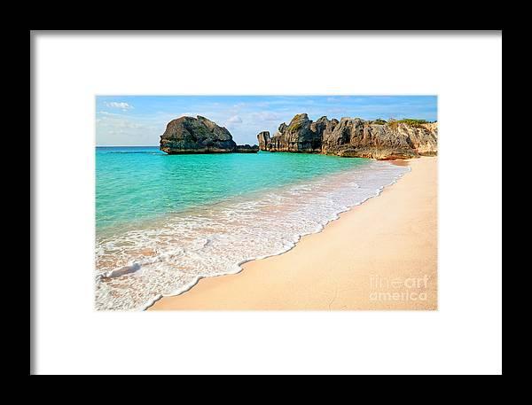 Bermuda Framed Print featuring the photograph Warwick Long Bay Beach by Charline Xia
