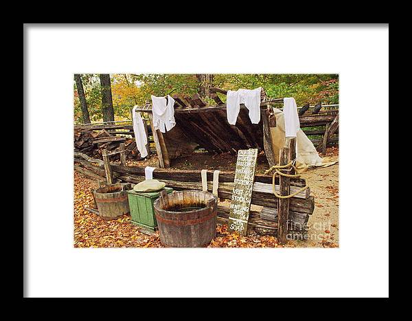 Penny Rinker Framed Print featuring the photograph Wash Day Blues by Penny Rinker