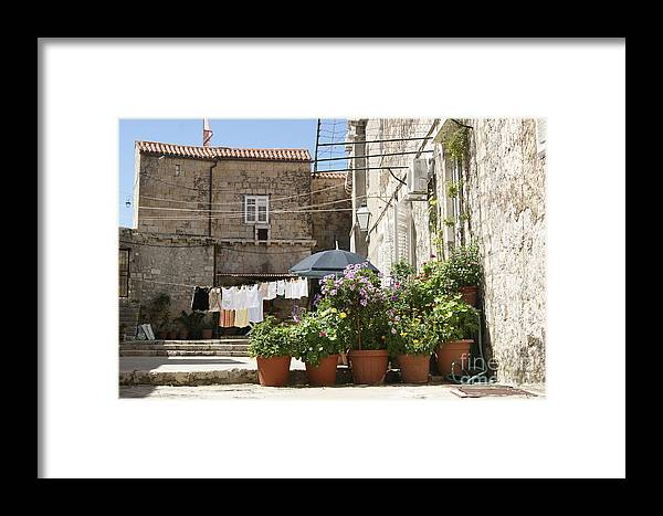 Wash Framed Print featuring the photograph Washday In Dubrovnik by David Birchall