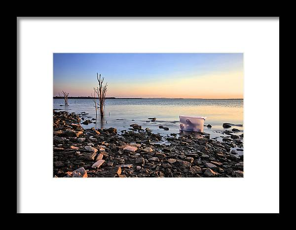 Boxed Framed Print featuring the photograph Washed Up by Pam B