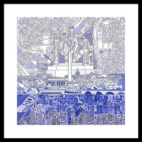 Washington Dc Skyline Abstract 3 by Bekim Art