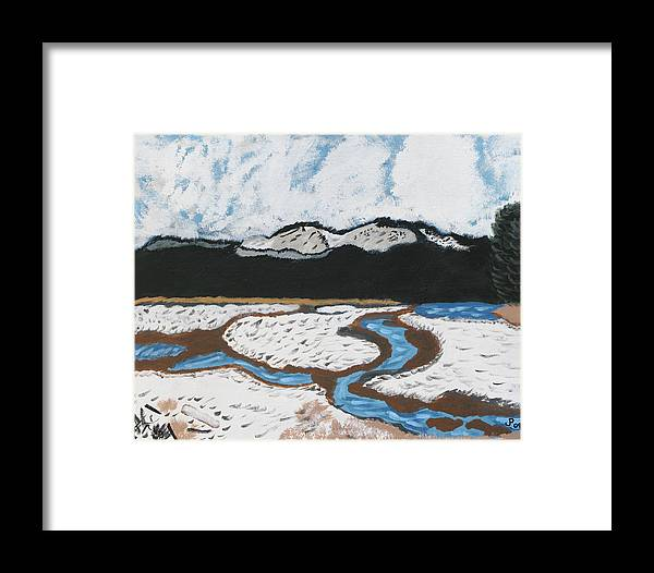 Mountains Framed Print featuring the painting Washington Lake by Jennifer Pierson