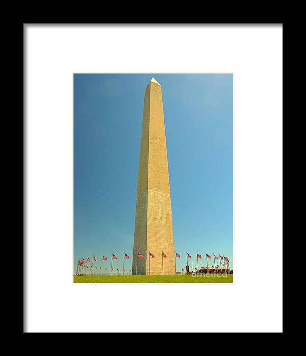 Washington Dc Framed Print featuring the photograph Washington Memorial by David Call