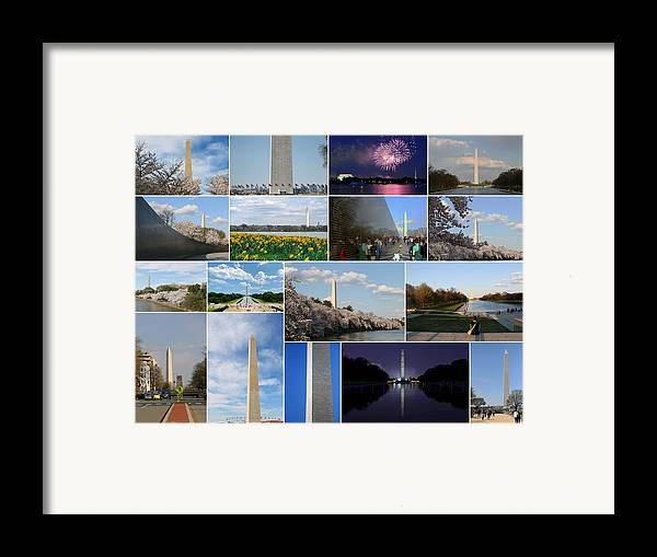 4 Framed Print featuring the photograph Washington Monument Collage 2 by Allen Beatty