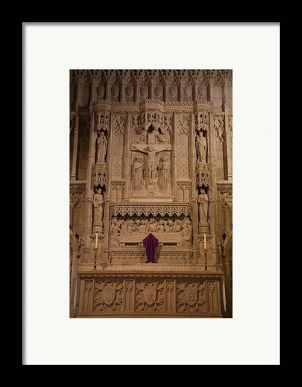 Alter Framed Print featuring the photograph Washington National Cathedral - Washington Dc - 011324 by DC Photographer