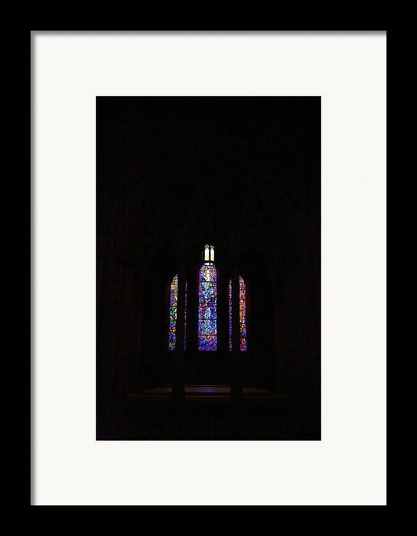 Alter Framed Print featuring the photograph Washington National Cathedral - Washington Dc - 011334 by DC Photographer