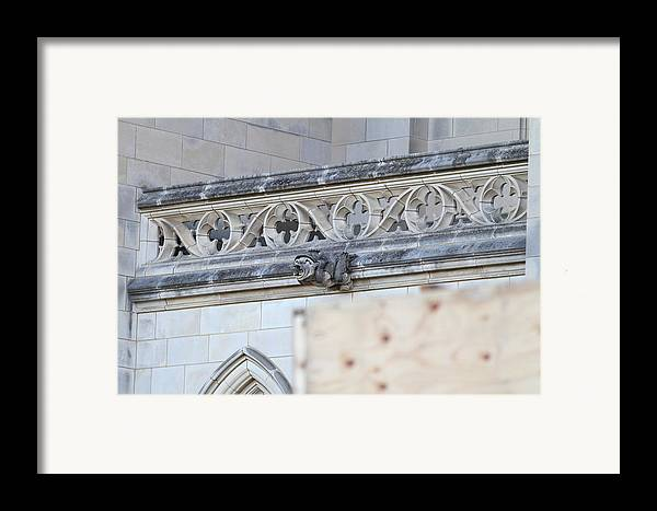 Alter Framed Print featuring the photograph Washington National Cathedral - Washington Dc - 01134 by DC Photographer