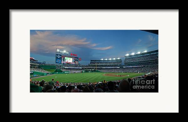 Red Sox Framed Print featuring the photograph Washington Nationals In Our Nations Capitol by Thomas Marchessault