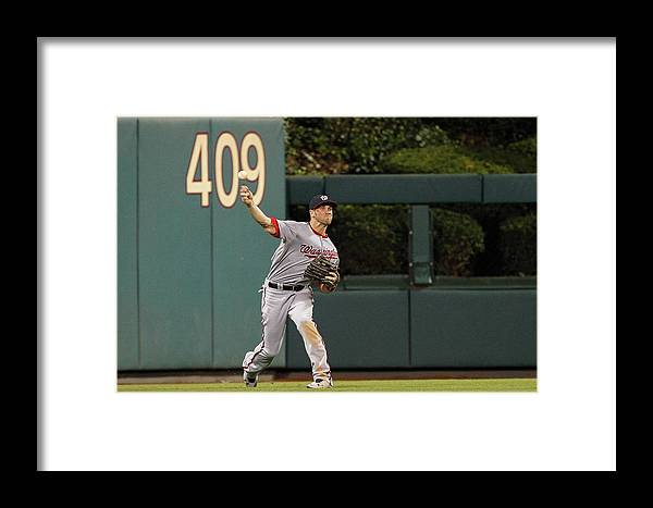 Ball Framed Print featuring the photograph Washington Nationals V Philadelphia by Brian Garfinkel
