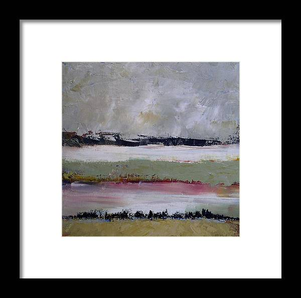 Abstract Framed Print featuring the painting Wasteland by Donna Mayo
