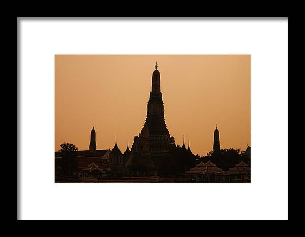 3scape Photos Framed Print featuring the photograph Wat Arun by Adam Romanowicz