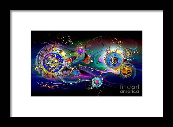 Watches Framed Print featuring the painting Watches In The Sky by Franziskus Pfleghart