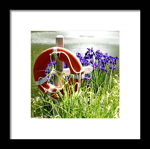 Purple Framed Print featuring the photograph Watchful Eye I by Valerie Fuqua