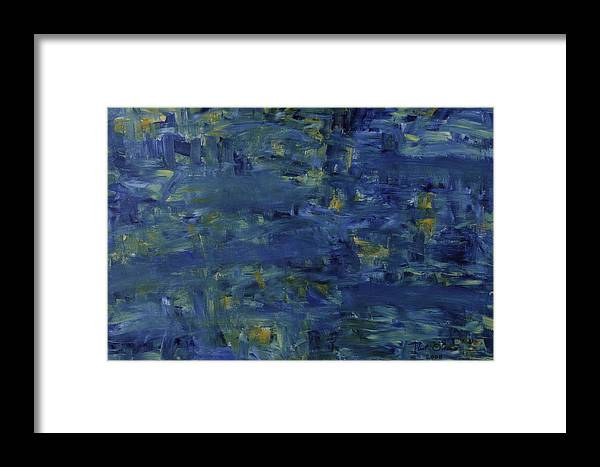 Water Framed Print featuring the painting Pond by Kurt Olson