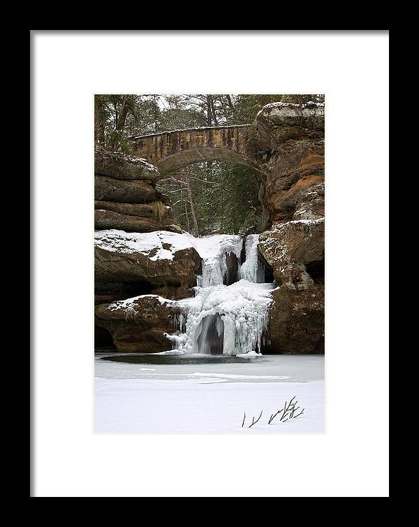 Waterfall Framed Print featuring the photograph Water And Ice Flow by Dale Kincaid