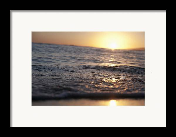 Brandon Tabiolo Framed Print featuring the photograph Water At Sunset by Brandon Tabiolo