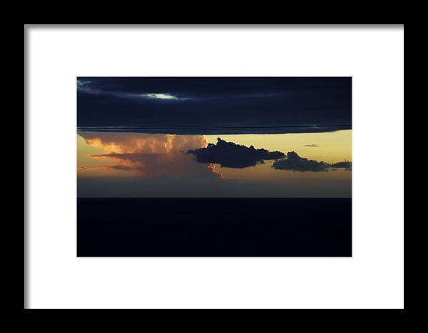Sunset Framed Print featuring the photograph Water Below Clouds Above by Linda Gray
