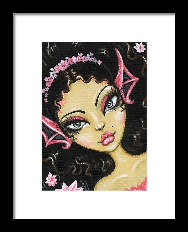 Fantasy Mermaid Framed Print featuring the painting Water Blossom by Elaina Wagner
