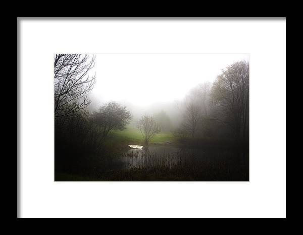 Nature Framed Print featuring the photograph Water Boat Pond by Samir Mustafic