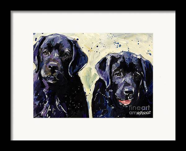 Labrador Retriever Puppies Framed Print featuring the painting Water Boys by Molly Poole