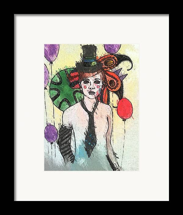 Clown Framed Print featuring the painting Water Clown by Amy Sorrell