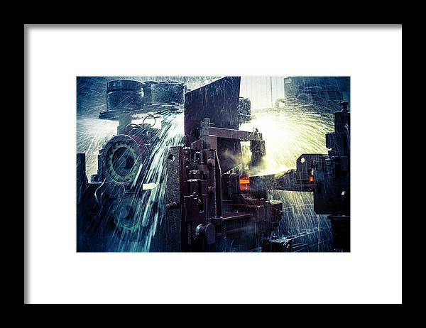 Metalwork Framed Print featuring the photograph Water Cooling Of Roling Mill Line by Chinaface