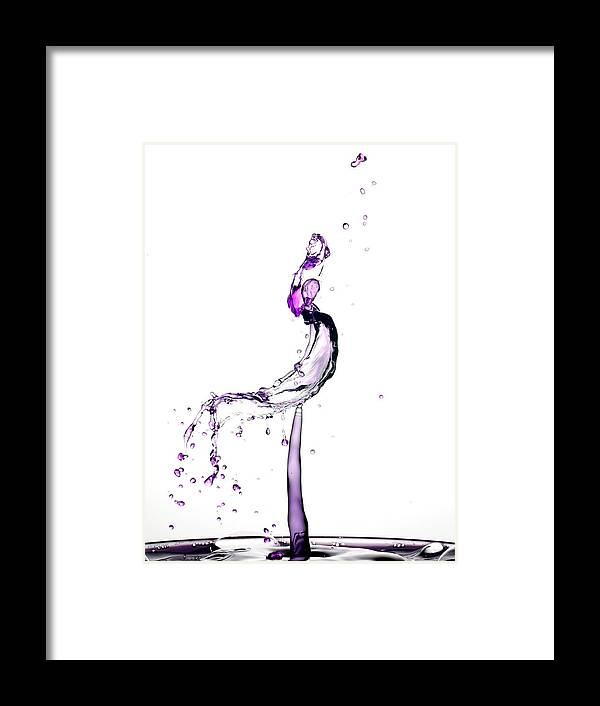 Collision Framed Print featuring the photograph Water Drop Collision Liquid Art 9 by Paul Ge