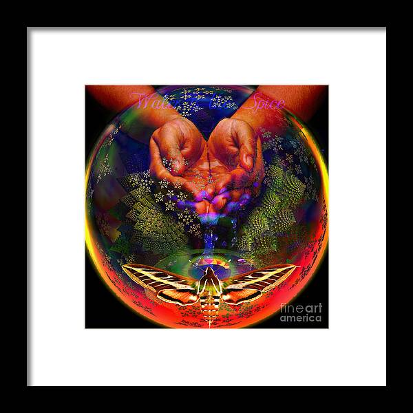 Safe Drinking Water Framed Print featuring the digital art Water Is The Spice by Joseph Mosley