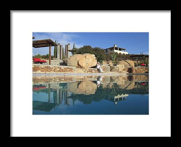 Ensenada Framed Print featuring the photograph Water Mirror by Gabriel Estrada