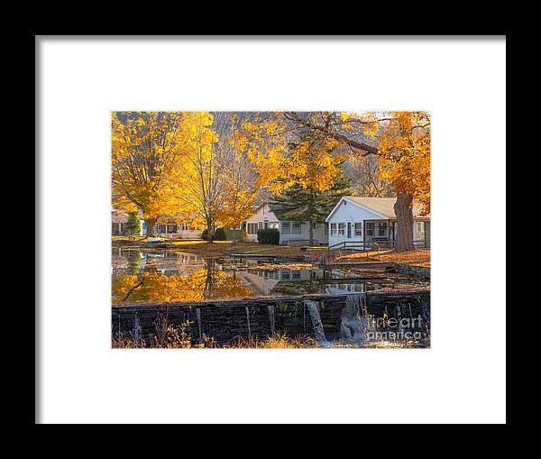 Community Framed Print featuring the photograph Water Over The Dam by Sue Zamecnik