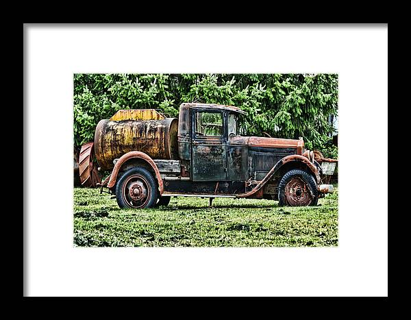 Light Framed Print featuring the photograph Water Truck by Ron Roberts