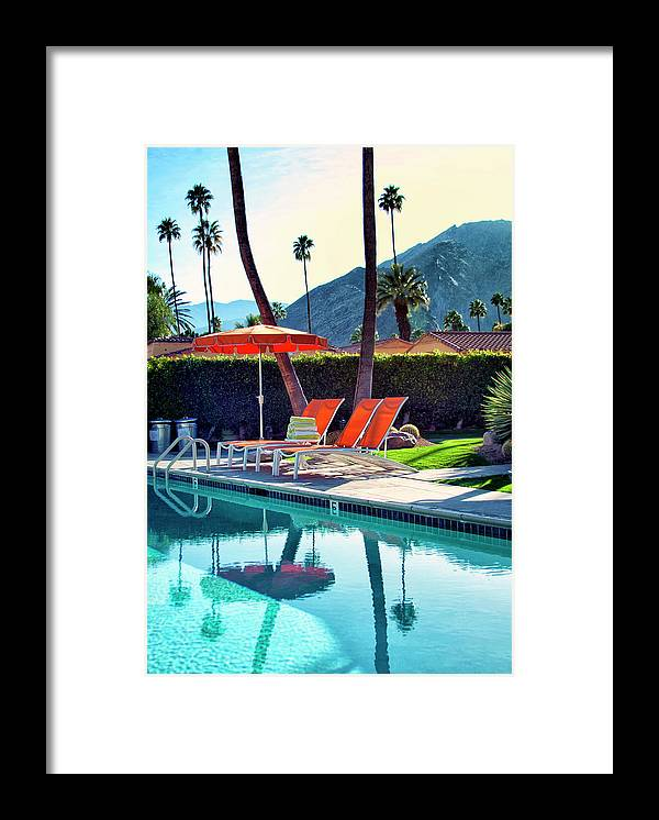Pool Framed Print featuring the photograph WATER WAITING Palm Springs by William Dey